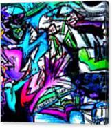Destination Unknown Neon Canvas Print