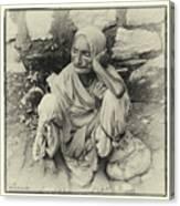 Destitute On The Ganges Canvas Print