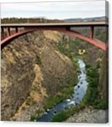 Desutches River Bridge Canvas Print