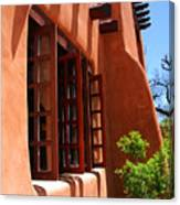 Detail Of A Pueblo Style Architecture In Santa Fe Canvas Print