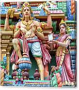 detail of Arulmigu Kapaleeswarar Temple, Chennai, Tamil Nadu Canvas Print