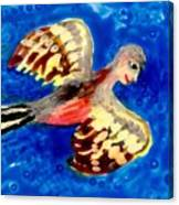 Detail Of Bird People Flying Chaffinch  Canvas Print