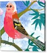 Detail Of Bird People The Chaffinch Family Father Canvas Print