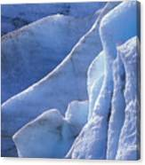 Detail Of Blue Ice On Exit Glaicer Canvas Print