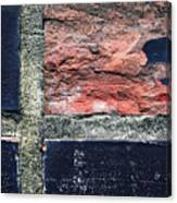 Detail Of Damaged Wall Tiles Canvas Print