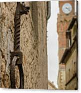 Detail Of Iron On A Wall Of Pienza, Tuscany, Italy Canvas Print