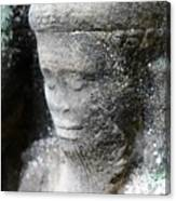 Detail Of Stone Carving Near Angkor Wat, Cambodia Canvas Print