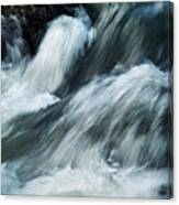 Detail Of Wild Rapid Water Canvas Print
