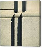 Detail Stone Pillars With Shadow Canvas Print