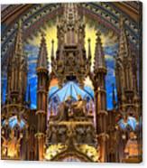 Details Notre Dame Montreal Canvas Print