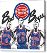 Detroit Bad Boys Pistons Canvas Print