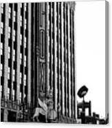 Detroit Fox Theatre Black And White Canvas Print