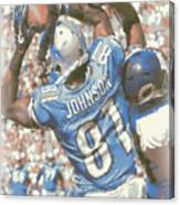 Detroit Lions Calvin Johnson 3 Canvas Print
