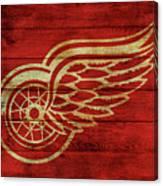Detroit Redwings Barn Door Canvas Print