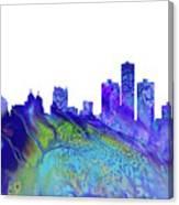 Detroit Skyline 3 Canvas Print