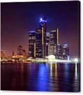 Detroit Skyline 4 Canvas Print