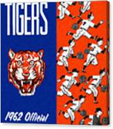 Detroit Tigers 1962 Yearbook Canvas Print