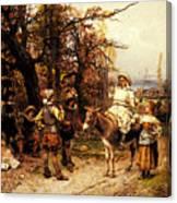 Detti Cesare Auguste A Halt Along The Way Canvas Print
