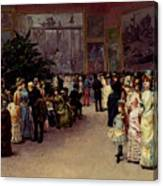 Detti Cesare Auguste Varnishing Day Canvas Print