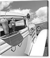 Deuce Coupe At The Drive-in Black And White Canvas Print