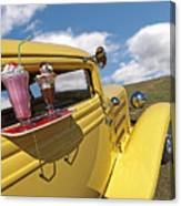 Deuce Coupe At The Drive-in Canvas Print