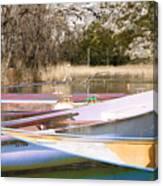 Deux Canoes Canvas Print