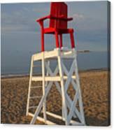 Devereux Beach Lifeguard Chair Marblehead Ma Canvas Print
