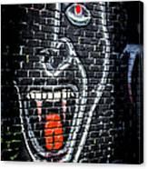 Devil Face Graffiti Canvas Print