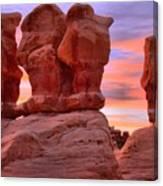 Devils Garden Pink Sunset Canvas Print
