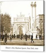 Dewey's Arch Monument, Madison Square, New York, 1900 Canvas Print