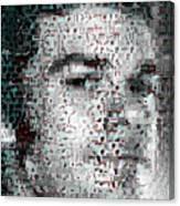 Dexter Blood Splatter Mosaic Canvas Print