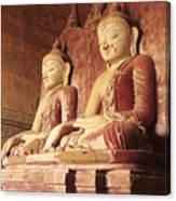 Dhammayangyi Temple Buddhas Canvas Print
