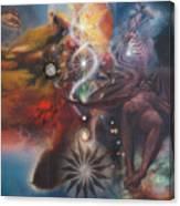 Dharma Of The Sleeper Yo-yo Canvas Print