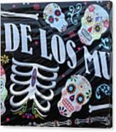 Dia De Los Muertos Banner  Canvas Print