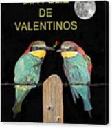 Dia Feliz De Valentinos Bee Eaters Canvas Print