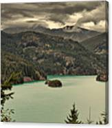 Diablo Lake - Le Grand Seigneur Of North Cascades National Park Wa Usa Canvas Print