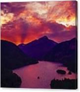 Diablo Lake, United States Canvas Print