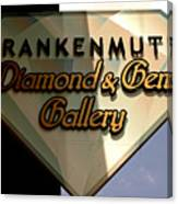 Diamond And Gem Gallery Canvas Print