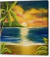 Diamond Head Sunrise #405 Canvas Print