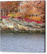 Diamond Island-mineral Deposits In Granite Canvas Print