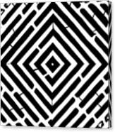 Diamond Shaped Optical Illusion Maze Canvas Print