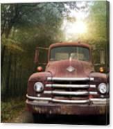 Diamond T Truck Canvas Print