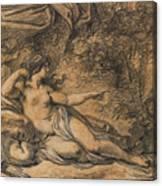 Diana And Actaeon Canvas Print