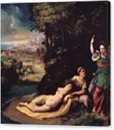 Diana And Calisto 1528 Canvas Print