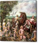Diana And Entourage Canvas Print