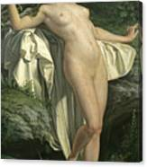 Diana At Her Bath Canvas Print