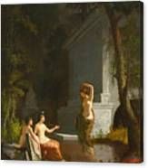 Diana At The Fountain Canvas Print