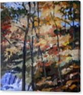Dick's Creek Falls Canvas Print