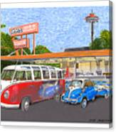 Dicks Drive In Seattle Canvas Print