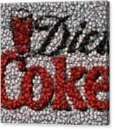 Diet Coke Bottle Cap Mosaic Canvas Print